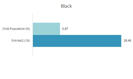 Bar Graph 2019 Disparity Indices by Ethnicity: Black