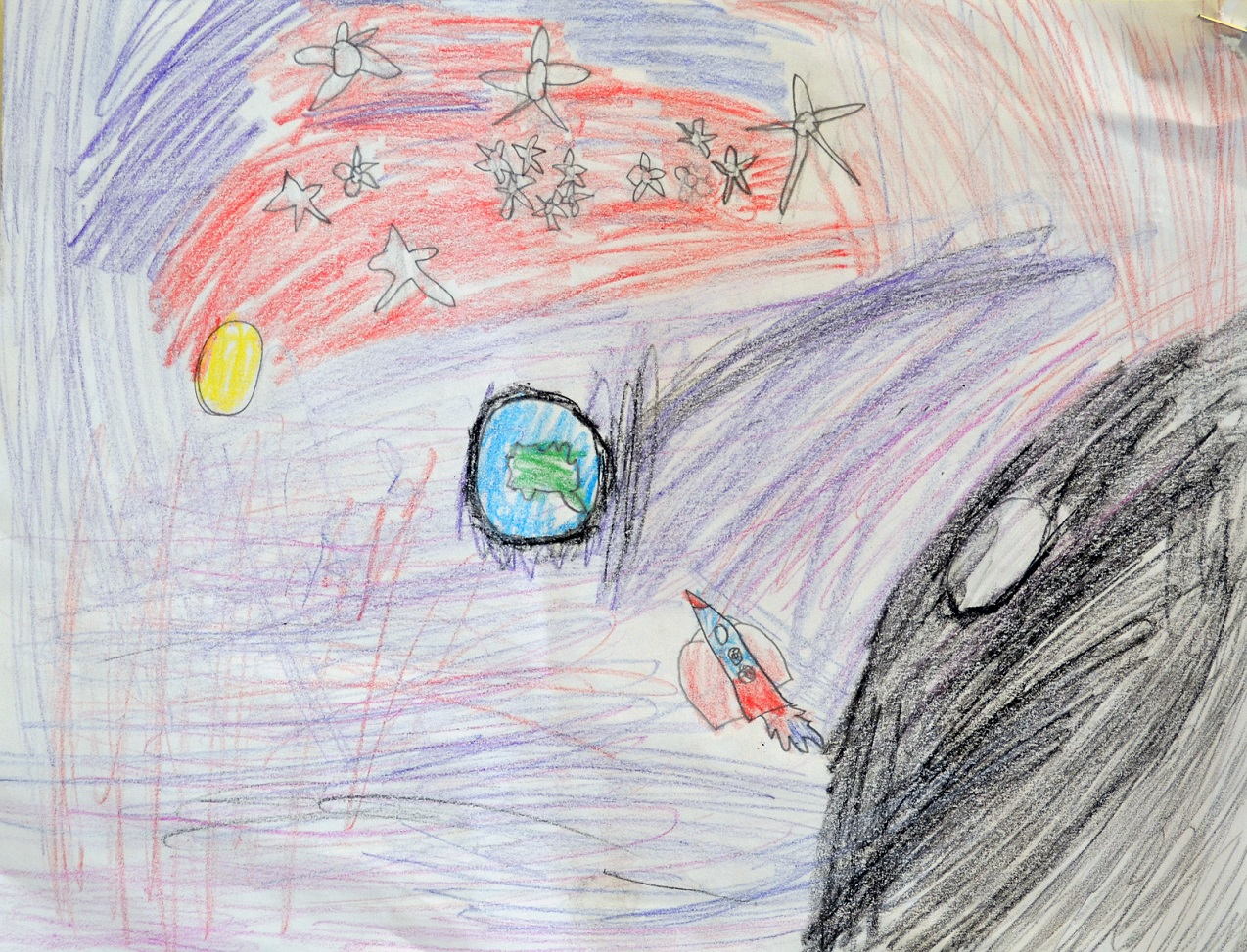 Kid Drawing of Space