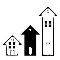 Housing and Homelessness Bureau three houses Logo