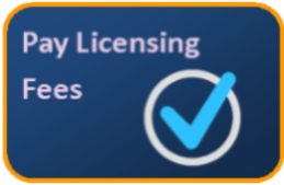 Button to pay licensing fees