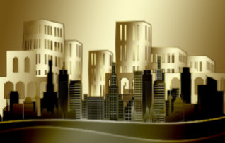 animated image of a cityscape