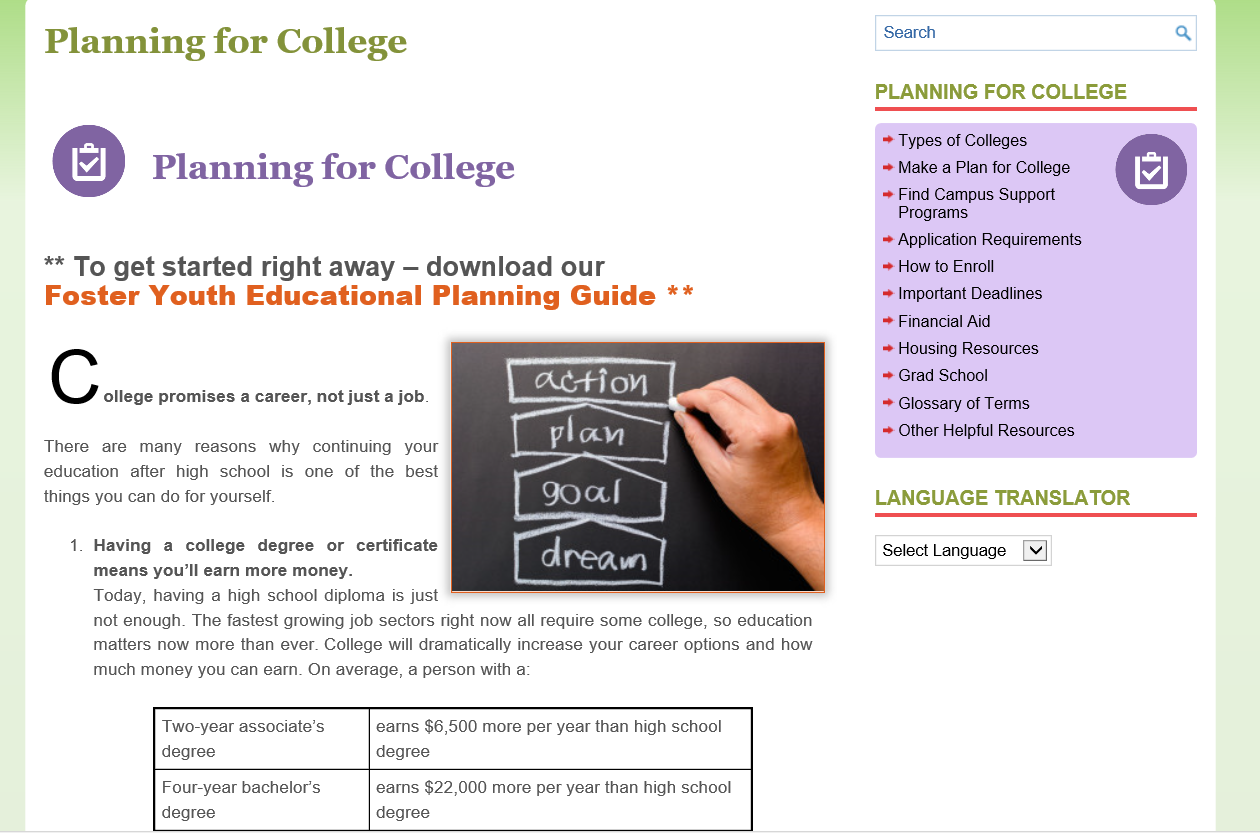 Start planning for college Flyer