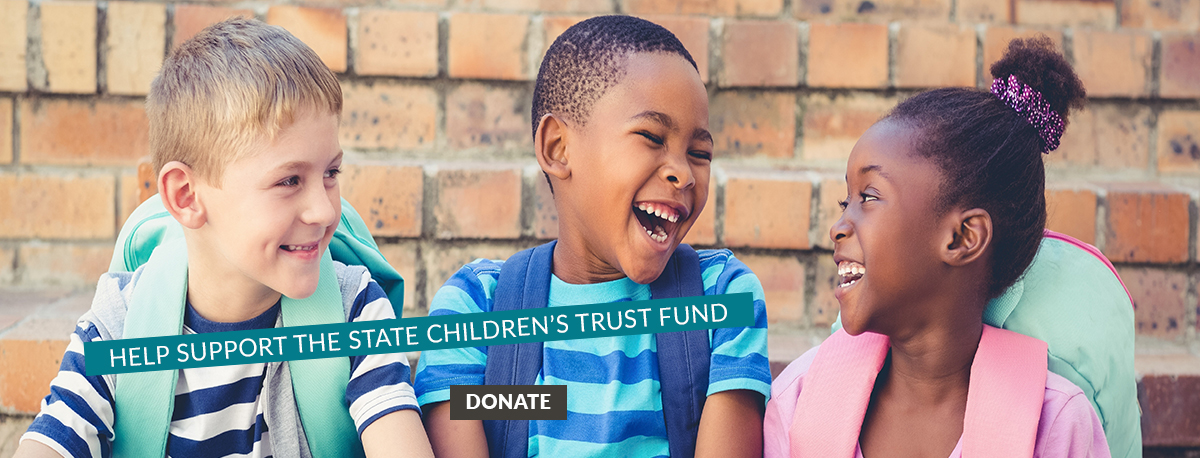kids with donate button